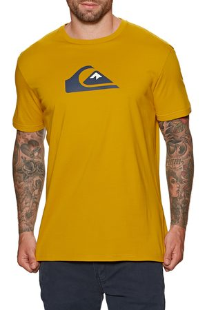 Quiksilver Men Short Sleeve - Comp Logo s Short Sleeve T-Shirt - Nugget