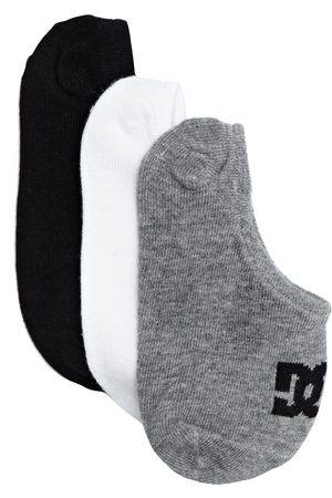 DC 3 Pack Liner Boys Sports Socks - Assorted