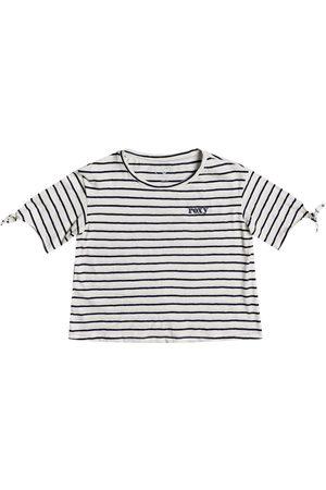 Roxy New Love Girls Short Sleeve T-Shirt - Snow Kuta Stripes