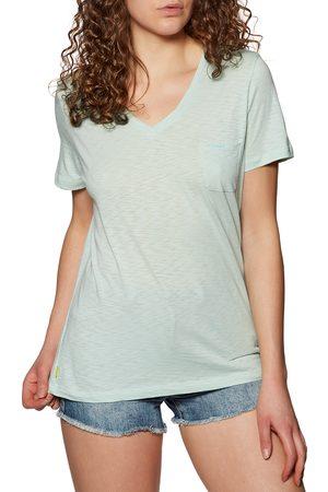 Superdry Pocket V Neck s Short Sleeve T-Shirt - Surf Spray