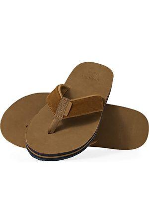 Superdry Premium Surf Leather s Flip Flops - Tan