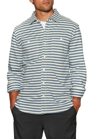 OUTERKNOWN New Denim Project Knit s Shirt - Recycled Denim Stripe