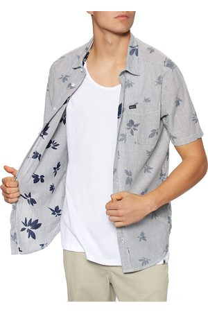 RVCA Endless Seersucker Print s Short Sleeve Shirt - Moody