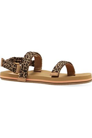 Reef Little Ahi Convertible Kids Sandals - Leopard