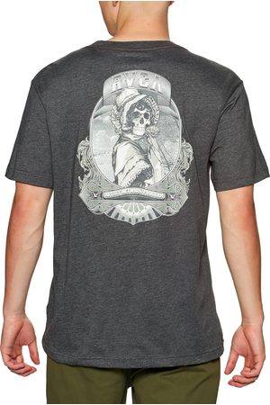 RVCA Skull Bonnet s Short Sleeve T-Shirt - Dark Charcoal