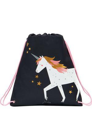 Joules Active Girls Gym Bag - Navy Unicorn