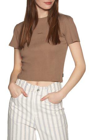 Afends Juliette Rib s Short Sleeve T-Shirt - Clay
