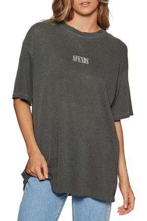 Afends Courtney Love Hemp Oversized s Short Sleeve T-Shirt - Stone