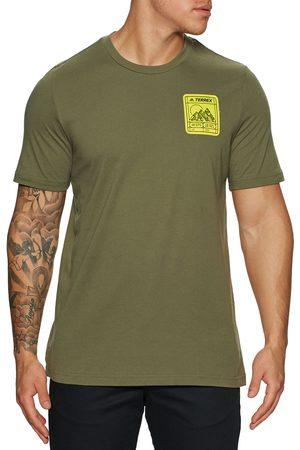 adidas Patch Mountain s Short Sleeve T-Shirt - Focusoliv