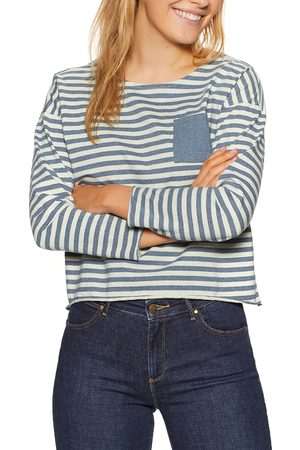 Outerknown NDP s Long Sleeve T-Shirt - Recycled Denim Stripe