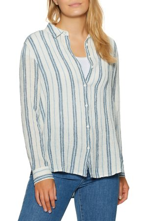 OUTERKNOWN Costa s Shirt - Cobalt Sunlit Stripe