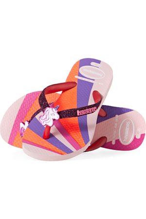 Havaianas Slim Glitter II Kids Flip Flops - Candy