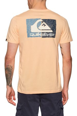 Quiksilver Isle Of Stoke s Short Sleeve T-Shirt - Apricot