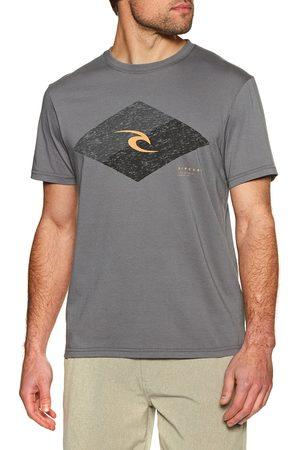 Rip Curl Icon Vaporcool s Short Sleeve T-Shirt - Dark Grey