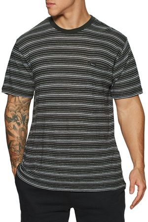 RVCA Toluca Micro Stripe s Short Sleeve T-Shirt - Pirate