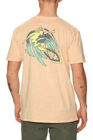 Quiksilver Island Pulse s Short Sleeve T-Shirt - Apricot