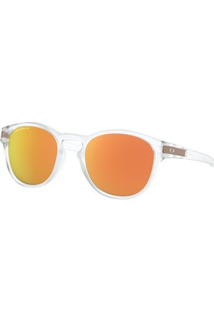 Oakley Latch Sunglasses - Matte Clear ~ Prizm Rose Polarized