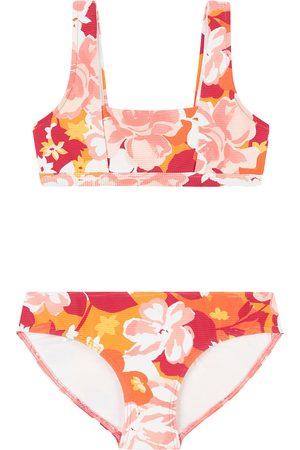 Seafolly Square Neck Tankini Vintage Vacay Girls Bikini - Fanta