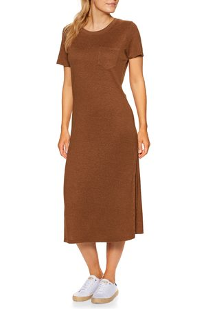 Outerknown Neptune Tee Dress - Sepia