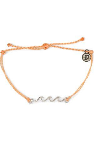 Pura Vida Silver Wave Bracelet - Peach