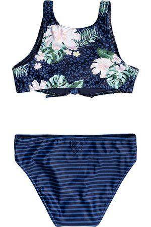 Roxy Heaven Crop Girls Bikini - Mood Indigo Animalia