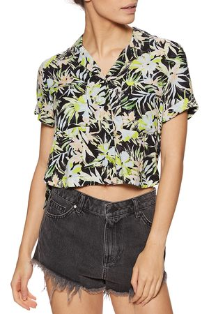 Volcom Cant Be Tamed Ss s Short Sleeve Shirt - Lime