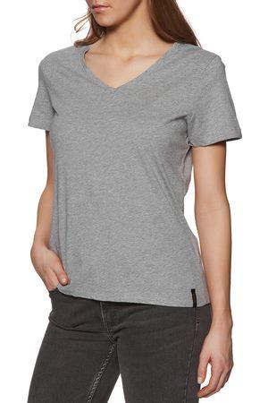 Superdry Lightweight Essential Vee s Short Sleeve T-Shirt - Mid Marl