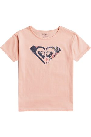 Roxy Day And Night Girls Short Sleeve T-Shirt - Peach Bud