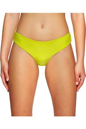Volcom Simply Rib Cheeky Bikini Bottoms - Lime