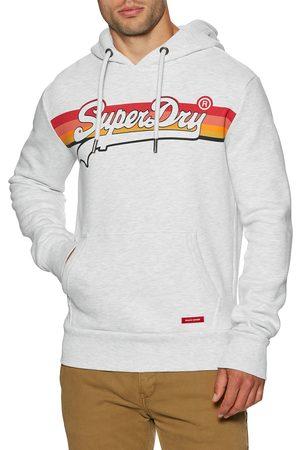 Superdry Vintage Cali Stripe s Pullover Hoody - Ice Marl