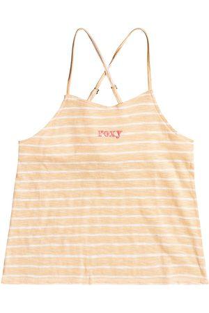 Roxy Beautiful Sunset Girls Camisole Vest - Apricot Ice Kuta Stripes