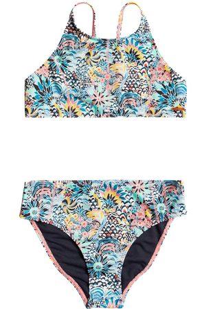 Roxy X Liberty Marine Bloom Crop Girls Bikini - Powder Puff Flower Party Girl