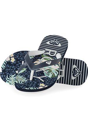 Roxy Tahiti Girls Flip Flops - Dark Navy