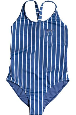 Roxy Perfect Surf Time One Piece Girls Swimsuit - Moonlight Kuta Stripes