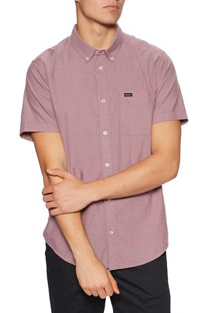 RVCA Thatll Do Stretch s Short Sleeve Shirt - Cranberry