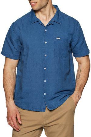 RVCA Hemp Beat s Short Sleeve Shirt - Indigo