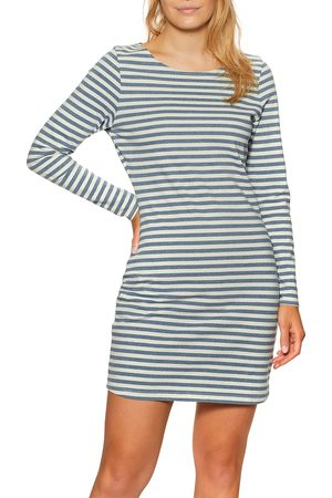 OUTERKNOWN New Denim Project Boatneck Dress - Recycled Denim Stripe