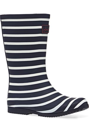 Joules Jnr Roll Up Boys Wellies - Navy Stripe