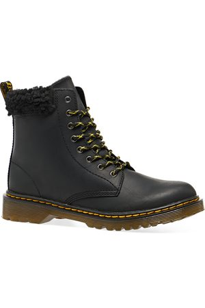 Dr. Martens 1460 Fleece Lined Leather Ankle Kids Boots - Republic Wp