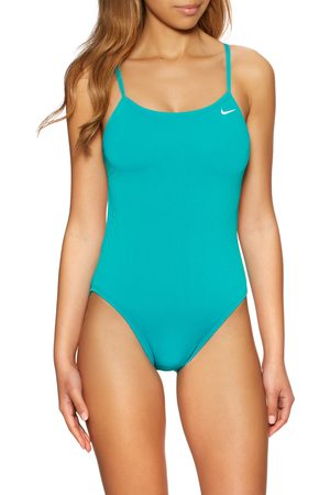 Nike Poly Solid Hydrastrong Cut-out Swimsuit - Aquamarine