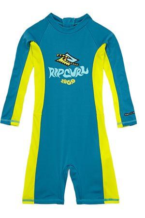 Rip Curl Boys 0-6 Long Sleeve UV Spring Kids Rash Vest - Lime