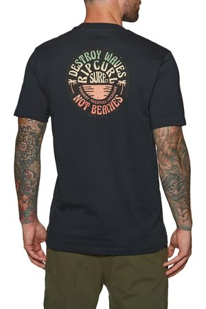 Rip Curl Down The Line s Short Sleeve T-Shirt - Navy
