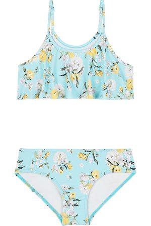 Seafolly Spring Blossom Frill Tankini Girls Bikini - Atlantis