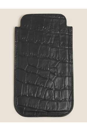 M&S Collection Men Phones Cases - Mock Croc Leather iPhone 12 Case