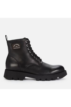 Karl Lagerfeld Men Ankle Boots - Men's Terra Firma Leather Lace Up Boots