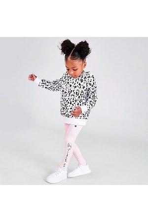 Champion Girls' Infant Animal Print Fleece Hoodie and Leggings Set in / Size 2 Toddler Cotton/Fleece