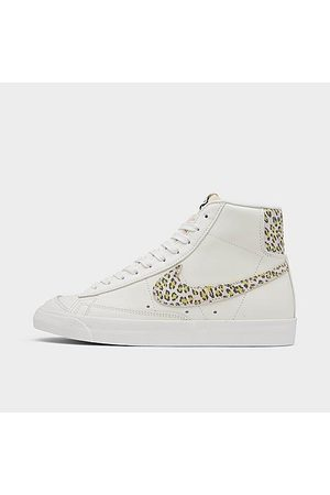 Nike Women's Blazer Mid '77 SE Leopard Casual Shoes in White/Animal Print/Sail Size 6.0 Leather/Suede