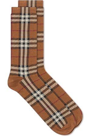 Burberry Men Socks - Cotton Cashmere Check Sock
