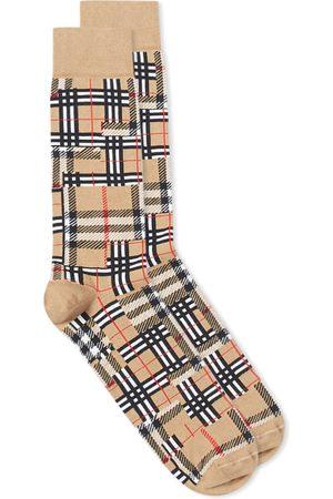 Burberry Men Socks - Patchwork Check Sock