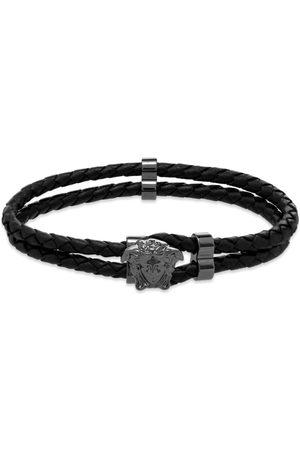 Versace Men Bracelets - Leather Medusa Bracelet